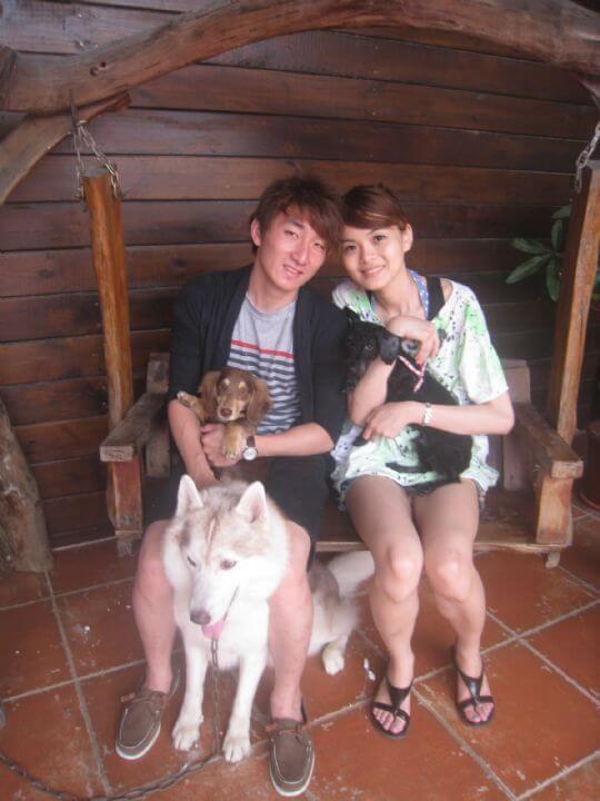 2011.4/26鄭小姐2人+1狗入住船屋 相片來源:墾丁寵物民宿.哈CHEESE