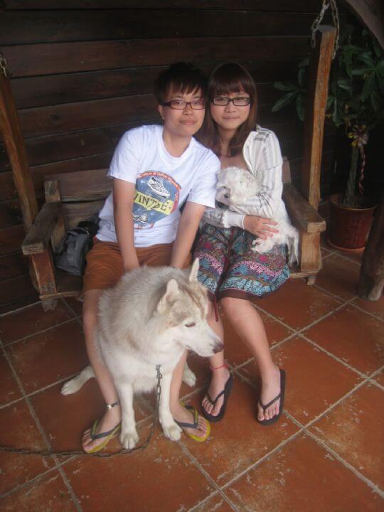 2011.4/28黃小姐2人+1狗入住船屋 相片來源:墾丁寵物民宿.哈CHEESE