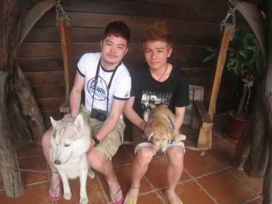 2011.4/28黃小姐朋友2人+1狗入住蛋屋 相片來源:墾丁寵物民宿.哈CHEESE