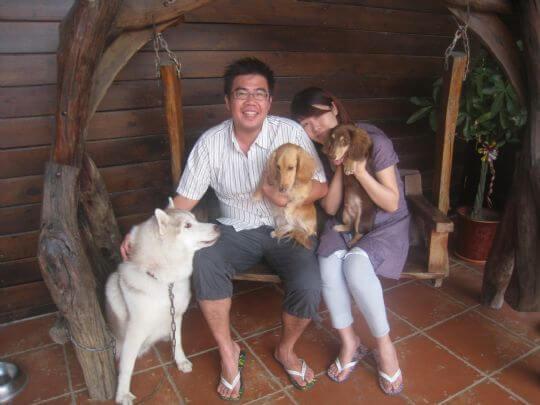 2011.5/1陳先生2人+1狗入住蛋屋 相片來源:墾丁寵物民宿.哈CHEESE