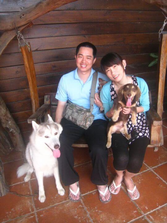 2011.5.9魏先生2人+1狗入住蛋屋 相片來源:墾丁寵物民宿.哈CHEESE