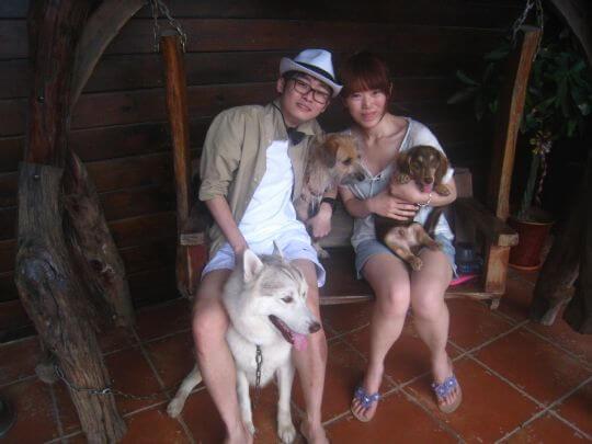 2011.5.20黃小姐2人+1狗入住樹屋 相片來源:墾丁寵物民宿.哈CHEESE