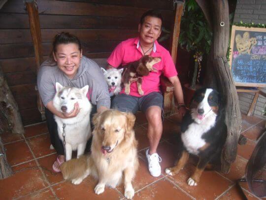 2011.5/26~27楊小姐2人+3狗入住船屋 相片來源:墾丁寵物民宿.哈CHEESE
