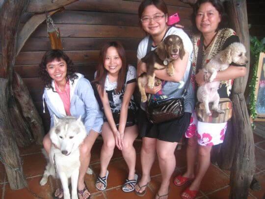 2011.5/28黃小姐4人+1狗入住通鋪 相片來源:墾丁寵物民宿.哈CHEESE