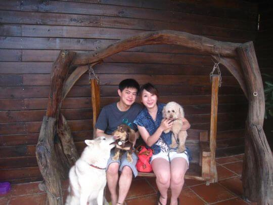 2011.5/29林小姐2人+1狗入住蛋屋 相片來源:墾丁寵物民宿.哈CHEESE