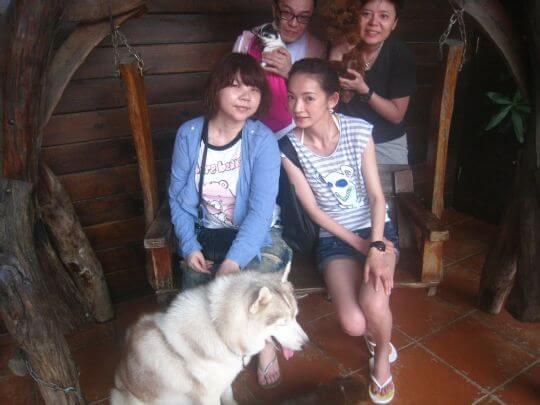 2011.5.31陳小姐4人+2狗入住船屋和樹屋 相片來源:墾丁寵物民宿.哈CHEESE