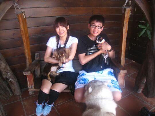 2011.6/10葉先生2人+1狗入住蛋屋 相片來源:墾丁寵物民宿.哈CHEESE