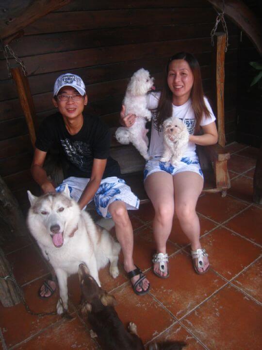 2011.6/16簡小姐2人+2狗入住樹屋 相片來源:墾丁寵物民宿.哈CHEESE