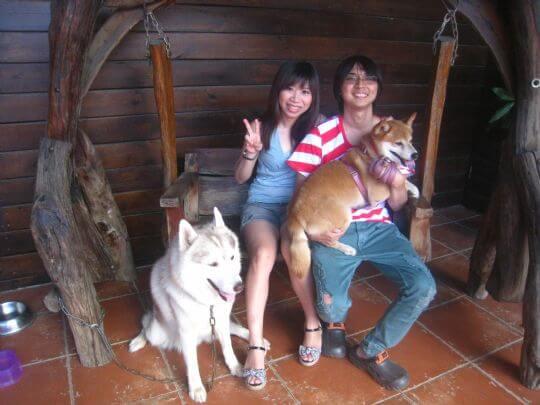 2011.6/17陳小姐2人+1狗入住船屋 相片來源:墾丁寵物民宿.哈CHEESE