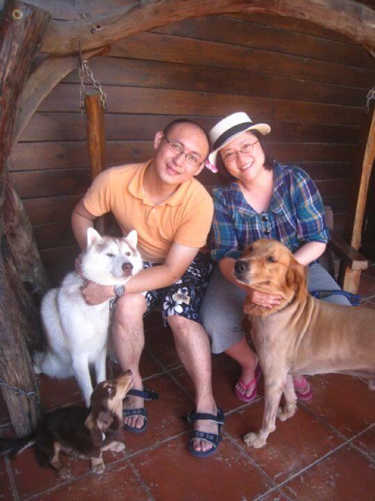 2011.6/22劉小姐2人+1狗入住樹屋 相片來源:墾丁寵物民宿.哈CHEESE