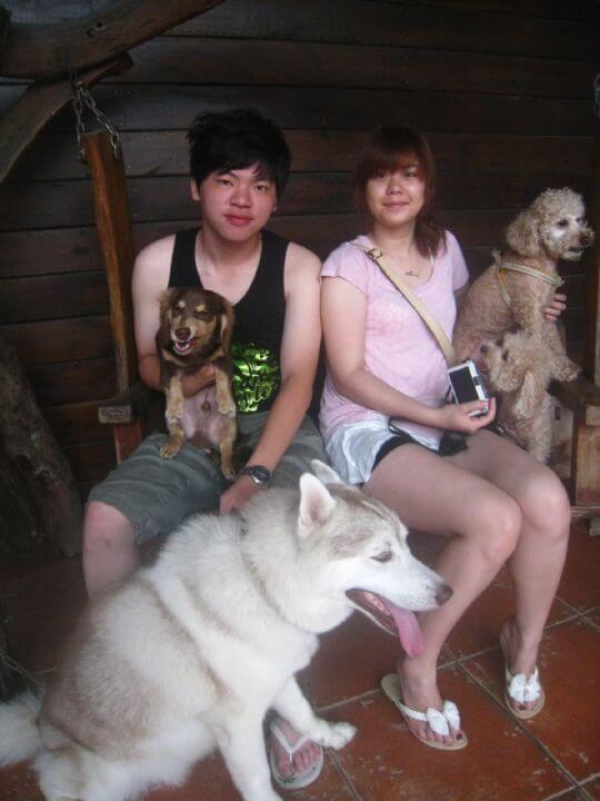 2011.6/22吳先生2人+2狗入住蛋屋 相片來源:墾丁寵物民宿.哈CHEESE