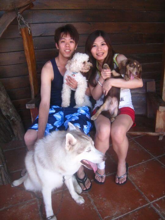 2011.6/29蔡小姐2人+1狗入住蛋屋 相片來源:墾丁寵物民宿.哈CHEESE