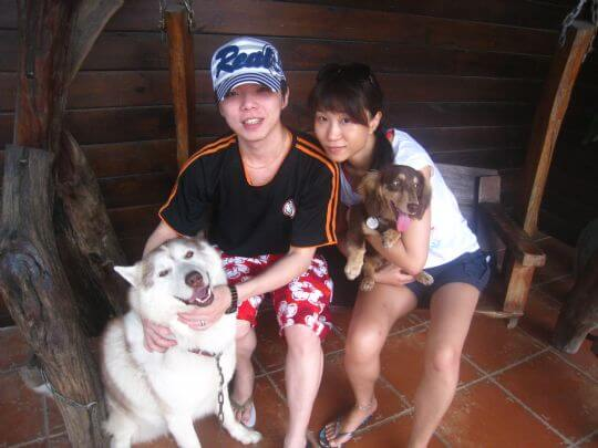 2011.6/30Ami Chan2人入住船屋 相片來源:墾丁寵物民宿.哈CHEESE