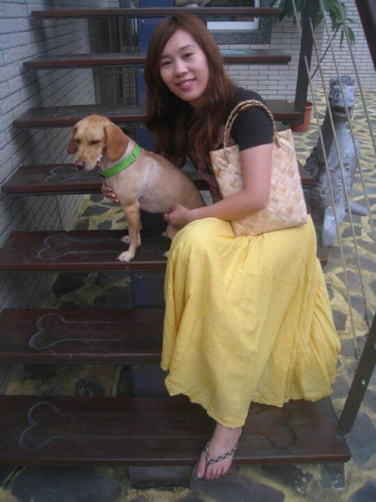 2011.7/7~8唐小姐2人+1狗入住蛋屋和船屋 相片來源:墾丁寵物民宿.哈CHEESE