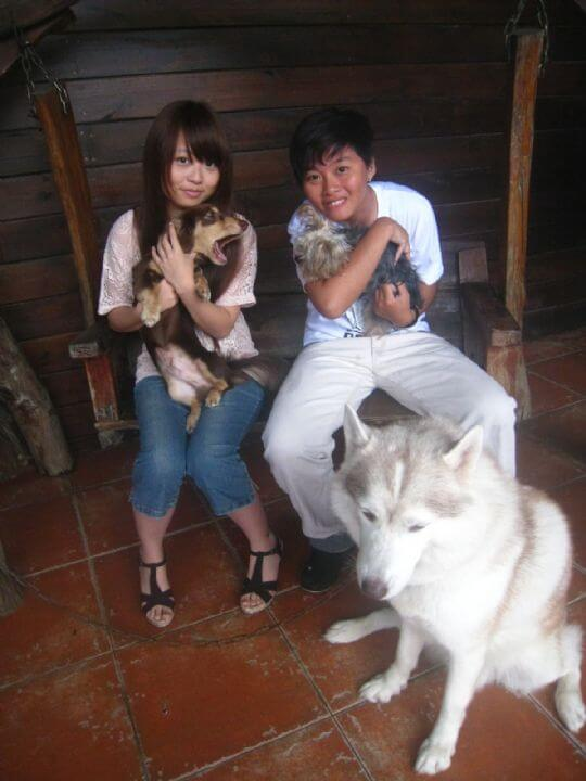 2011.7/12~13黃小姐2人+1狗入住蛋屋和船屋 相片來源:墾丁寵物民宿.哈CHEESE