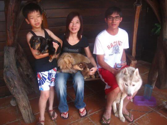 2011.7/14~15秦小姐3人+2狗入住通鋪和船屋 相片來源:墾丁寵物民宿.哈CHEESE