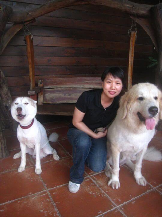 2011.7/20范小姐3人+1狗入住蛋屋 相片來源:墾丁寵物民宿.哈CHEESE