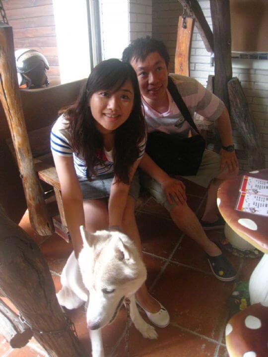 2011.8.6黃小姐4人+1狗入住船屋和蛋屋 相片來源:墾丁寵物民宿.哈CHEESE