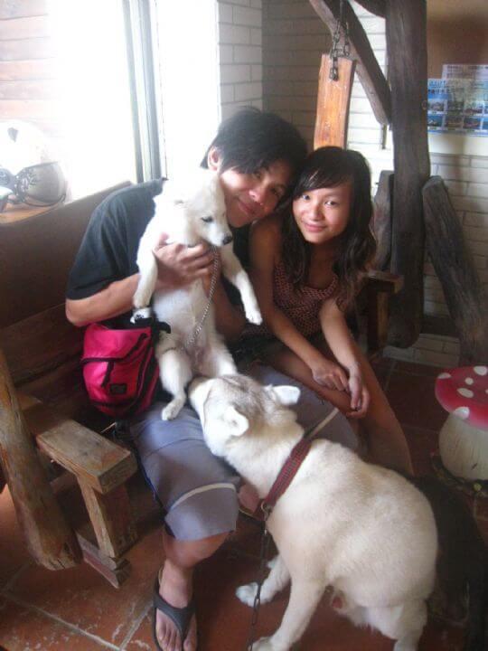 2011.8.22李小姐2人+1狗入住蛋屋 相片來源:墾丁寵物民宿.哈CHEESE