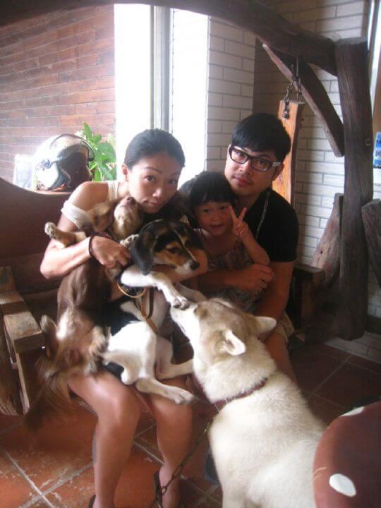 2011.9.13~14鄭小姐3人+1狗入住船屋 相片來源:墾丁寵物民宿.哈CHEESE