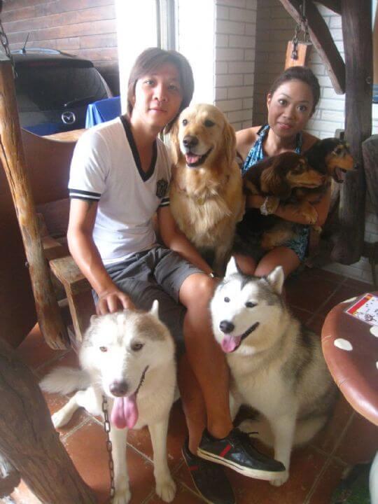 2011.10.3張小姐2人+3狗入住船屋 相片來源:墾丁寵物民宿.哈CHEESE