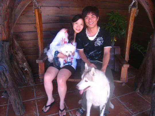 2010.8.1賴小姐2人+Gamma入住蛋屋 相片來源:墾丁寵物民宿.哈CHEESE