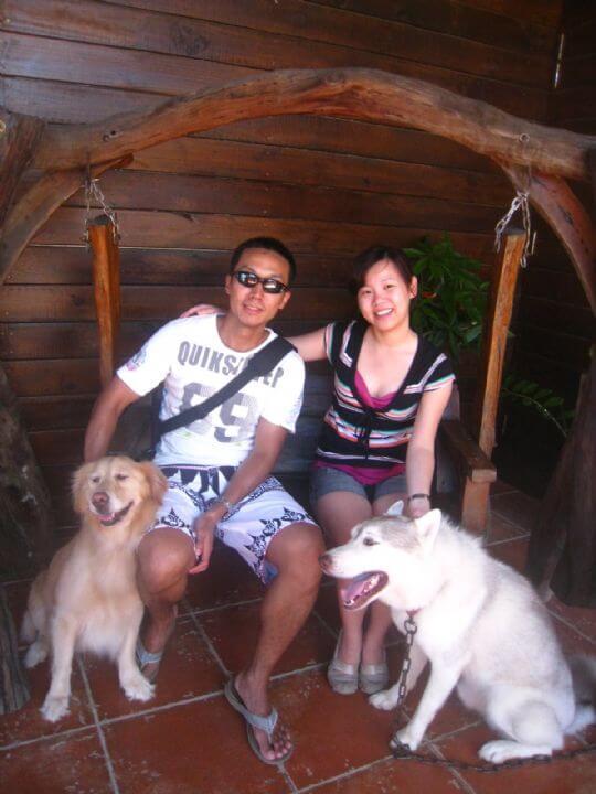 2010.7.30~8.1楊先生2人+2狗連續入住樹屋三晚 相片來源:墾丁寵物民宿.哈CHEESE