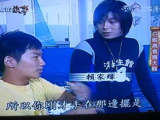 主持人訪問老闆,介紹白鯨 相片來源:墾丁寵物民宿.哈CHEESE