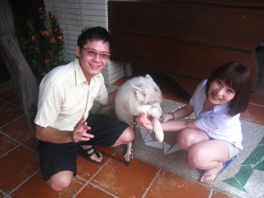 2010.8.7黃先生2人入住蛋屋 相片來源:墾丁寵物民宿.哈CHEESE