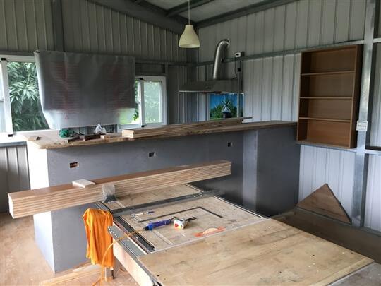 廚房調整中 相片來源:墾丁親子民宿~涼夏渡假別墅