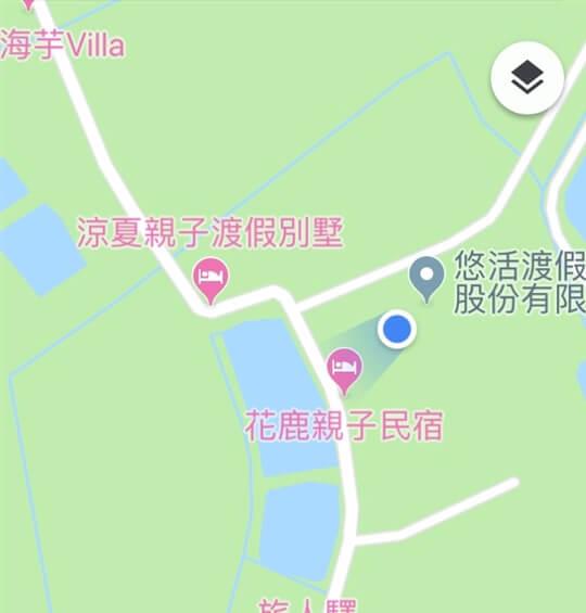 涼夏本館 v. 花鹿館 位置圖 相片來源:墾丁親子民宿~涼夏渡假別墅