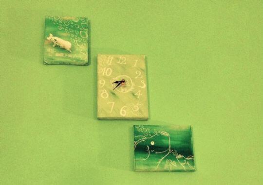 隱藏版的時鐘真的會動唷~你看見了嗎? 相片來源:蘭嶼好望角渡假村