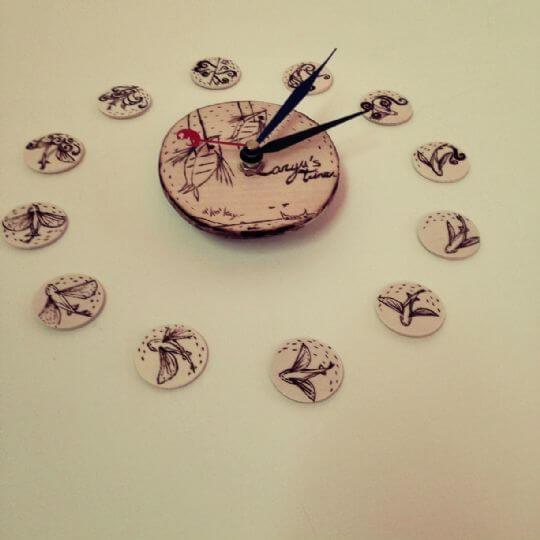 自製的可愛壁鐘是準時的唷~看看現在幾點啦? 相片來源:蘭嶼好望角渡假村