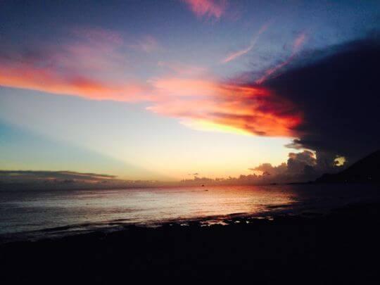 美麗的火燒雲夕陽 相片來源:蘭嶼好望角渡假村
