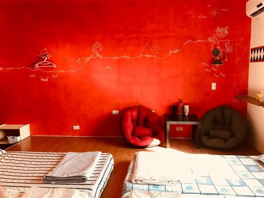 房內的好好躺的小小懶人沙發 相片來源:蘭嶼好望角渡假村