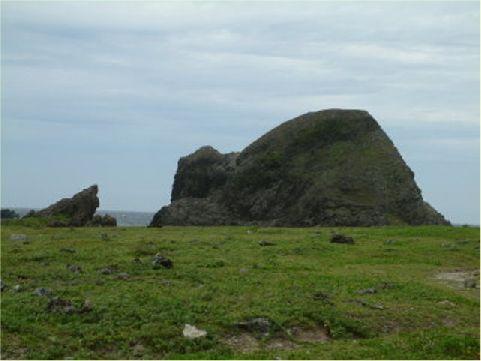 海龜岩- 位於柚子湖附近,看似一隻海龜正朝海洋前進。 相片來源:綠島長泰海景民宿