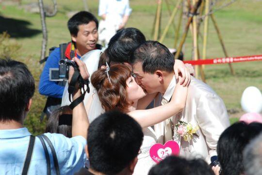 九族文化村舉辦櫻花婚禮 相片來源:九族民宿渡假小屋
