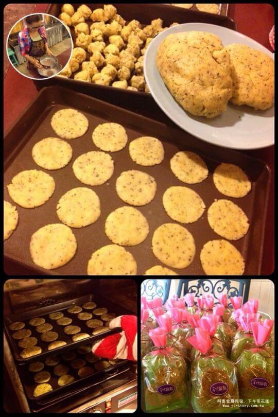 女兒手作 茶葉餅乾 相片來源:瑞里阿喜紫藤民宿