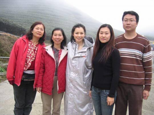 拍攝工作結束後的合照 相片來源:竹山天梯山林瓦舍民宿