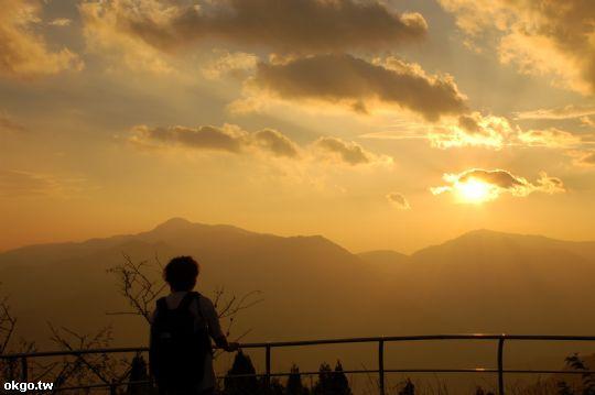 夕陽的景緻 相片來源:拉拉山民宿‧桃花源農莊