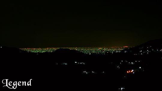 天氣良好時可遠眺民宿前方的夜景 相片來源:瑞里麗景民宿