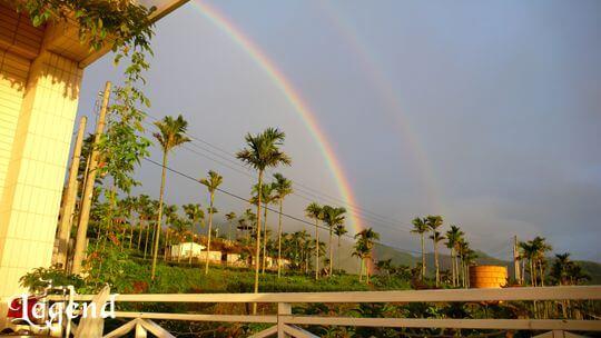 雨後的彩虹 相片來源:瑞里麗景民宿