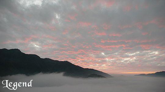 瑞里麗景景觀民宿前方的雲海與夕陽 相片來源:瑞里麗景民宿