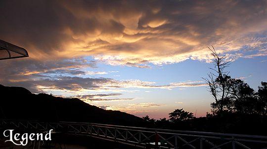 瑞里麗景景觀民宿前方的夕陽 相片來源:瑞里麗景民宿
