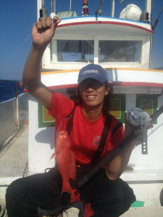 紅色石斑魚 相片來源:綠島田の家民宿