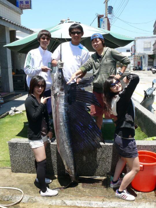 美女與芭蕉旗魚-老闆 相片來源:綠島田の家民宿