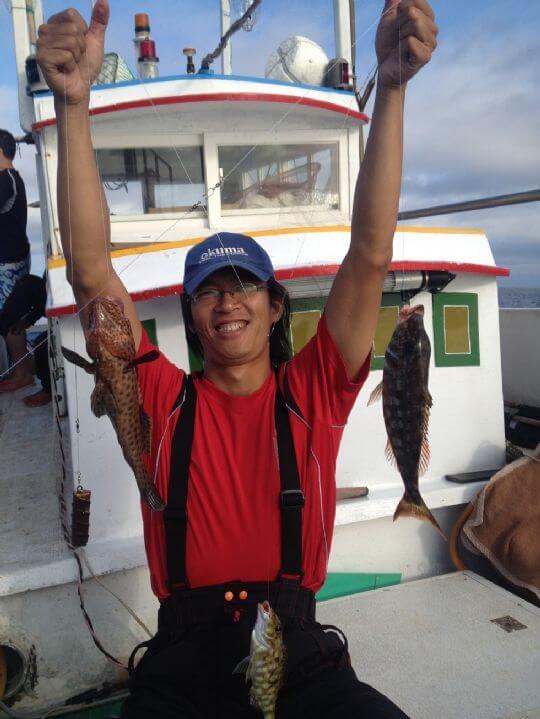 一次三弓 石斑魚及龍瞻 相片來源:綠島田の家民宿