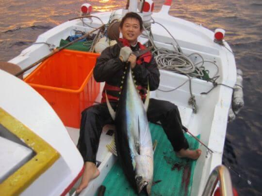 36公斤鮪魚 相片來源:綠島田の家民宿