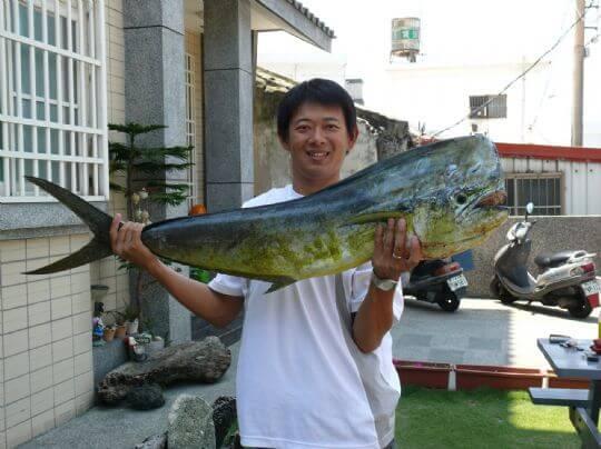 10公斤鬼頭刀 相片來源:綠島田の家民宿