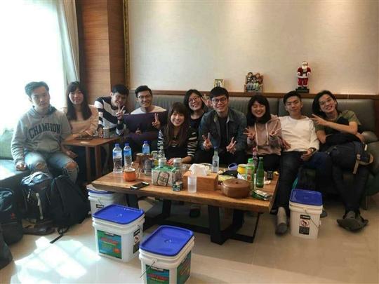 一群台科大研究生2017元旦來宜蘭跨年
